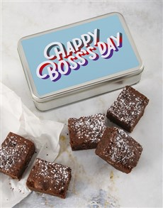 bakery: Happy Boss Day Brownie Tin!