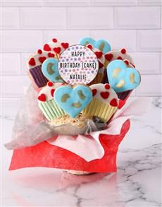 bakery: Personalised Birthday Cupcake Cookie Bouquet!