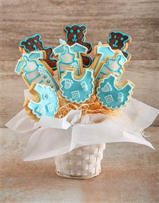 bakery: New Baby Boy Cookie Bouquet!