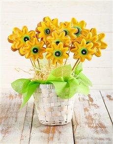 bakery: Sunflower Cookie Bouquet!
