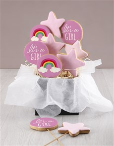 bakery: Its A Girl Cookie Bouquet!