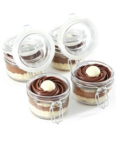 bakery: Dark Lindt Chocolate Mousse Cupcakes in a Jar!