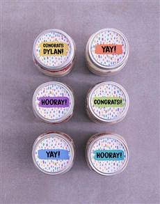 bakery: Personalised Congrats Cake Jars!