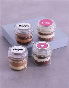 bakery: Personalised Pretty Pink Cupcake Jars !
