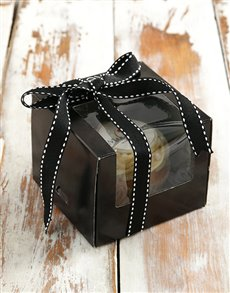 gifts: Single Branded Cupcake in a Black Window Box!
