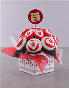 bakery: Personalised Romantic Love Cupcake Bouquet!