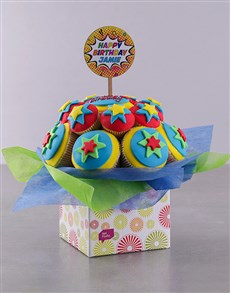 bakery: Personalised Super Duper Birthday Cupcake Bouquet!