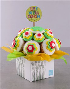 bakery: Personalised Get Well Soon Cupcake Bouquet!