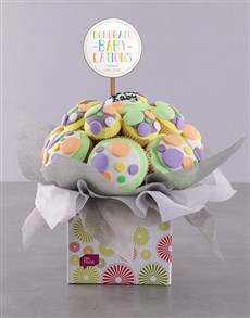 bakery: Personalised Bundle of Joy Baby Cupcake Bouquet!