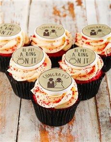 gifts: Engagement Cupcakes!