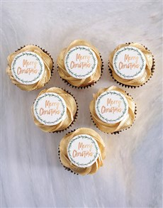 bakery: Gold Vanilla Cupcakes for Christmas!