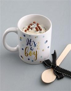 bakery: Its A Boy Cake In A Mug!