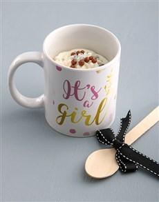 bakery: Its A Girl Cake In A Mug!