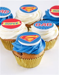 bakery: Super Dad Chocolate Chip Cupcakes!