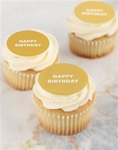 bakery: Vanilla Happy Birthday Cupcakes!