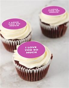 bakery: Red Velvet I Love You Cupcakes!
