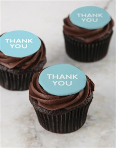 bakery: Thank You Chocolate Cupcakes!
