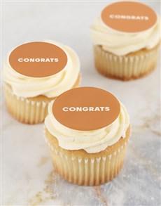 bakery: Vanilla Congratulations Cupcakes!