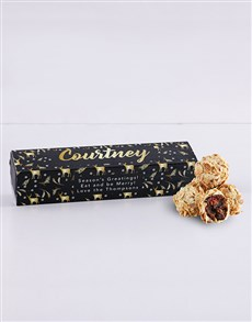 bakery: Personalised Cinnamon and Date Truffle Box!