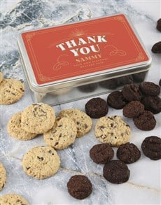 bakery: Personalised Thank You Cookie Tin!
