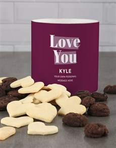 gifts: Personalised Purple Love You Cookie Tube!