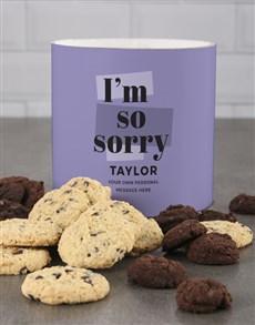 bakery: Personalised Purple Apologies Cookie Tube!