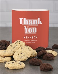 bakery: Personalised Orange Gratitude Cookie Tube!