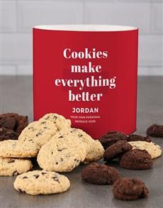 bakery: Personalised Red Indulge Cookie Tube!