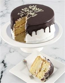 bakery: Personalised Message Vanilla Drip Cake !