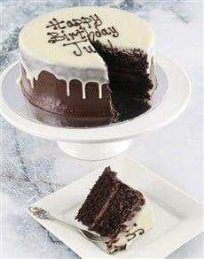 bakery: Personalised Message Chocolate Drip Cake!