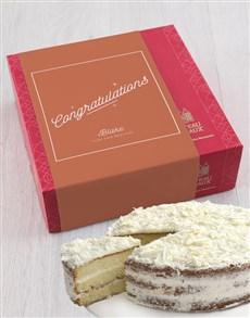 bakery: Personalised Chateau Gateaux Congrats Cake!