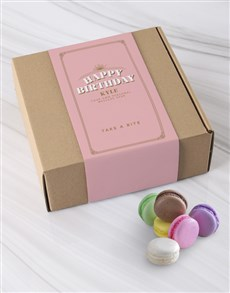 bakery: Personalised Happy Birthday Macaroon Box!