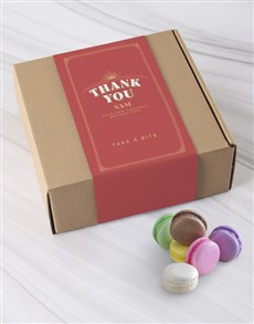 bakery: Personalised Thank You Macaroon Box!