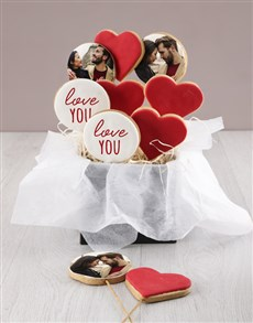 bakery: Personalised Love You Cookie Bouquet!