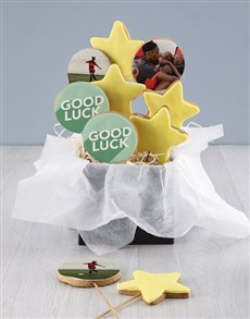 bakery: Personalised Good Luck Cookie Bouquet!