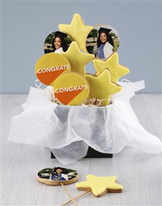 bakery: Personalised Well Done Cookie Bouquet!