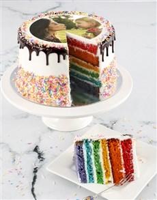 bakery: Personalised Magical Rainbow Photo Cake!