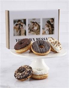 bakery: Personalised Choc And Vanilla Doughnut Box!