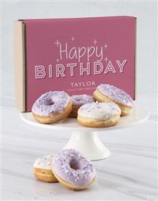 bakery: Personalised Birthday Pastel Doughnut Box!