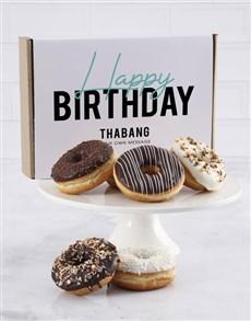 bakery: Personalised Birthday Duo Doughnut Box !