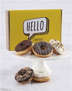 bakery: Personalised Hello Doughnut Box!