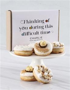 bakery: Personalised Thinking Of You Doughnut Box!