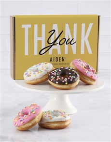 bakery: Personalised Triple Thanks Doughnut Box!