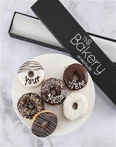 gifts: Personalised Vanilla Choc Doughnut Box!