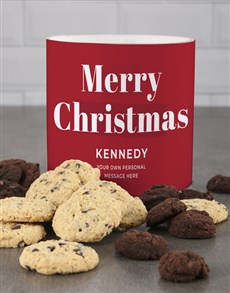 bakery: Personalised Merry Wishes Cookie Tube!