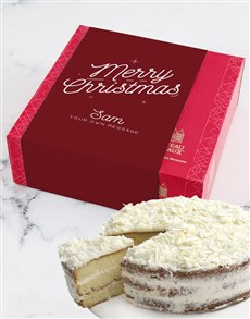 gifts: Personalised Merry Chateaux Gateaux Vanilla Cake!