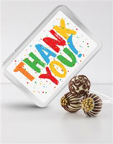 bakery: Thank You Chocolate Cake Pops !