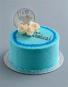 bakery: Personalised Baby Boy Cake!