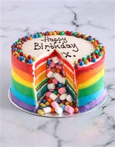 bakery: Rainbow Pinata Cake!