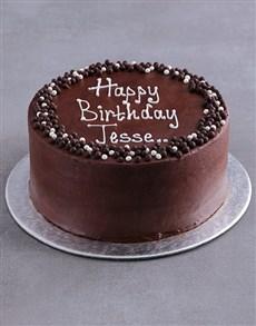 bakery: Personalised Chocolate Birthday Cake!